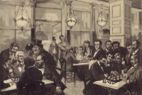 19th century chess cafe